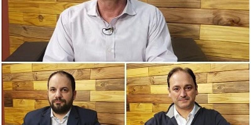Deliberando. Tres candidatos a intendente por la ciudad de Armstrong.
