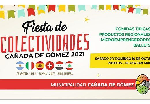 Cañada de Gómez. Este fin de semana se realiza la fiesta de colectividades 2021.