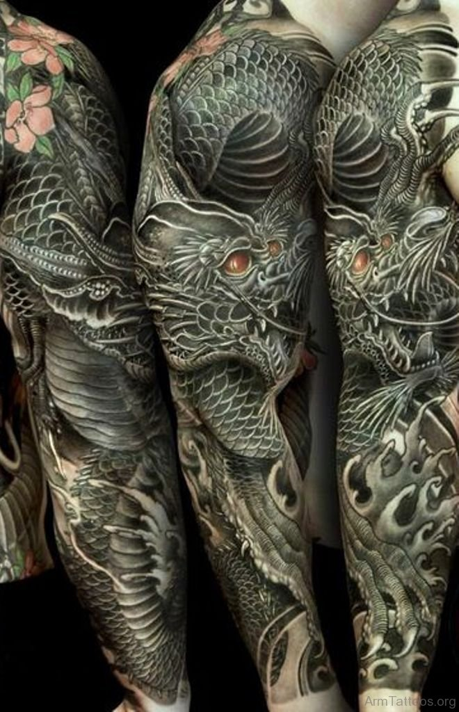 70 Attractive Dragon Tattoos On Arm