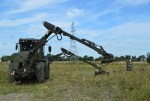 Armtrac 100-350 Mk2 with detection and vegetation cutting tools for Bomb Search and Detection