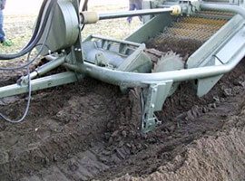 machine tilling soil