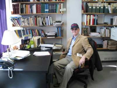 1956 - Carl Morris in his office at Harvard