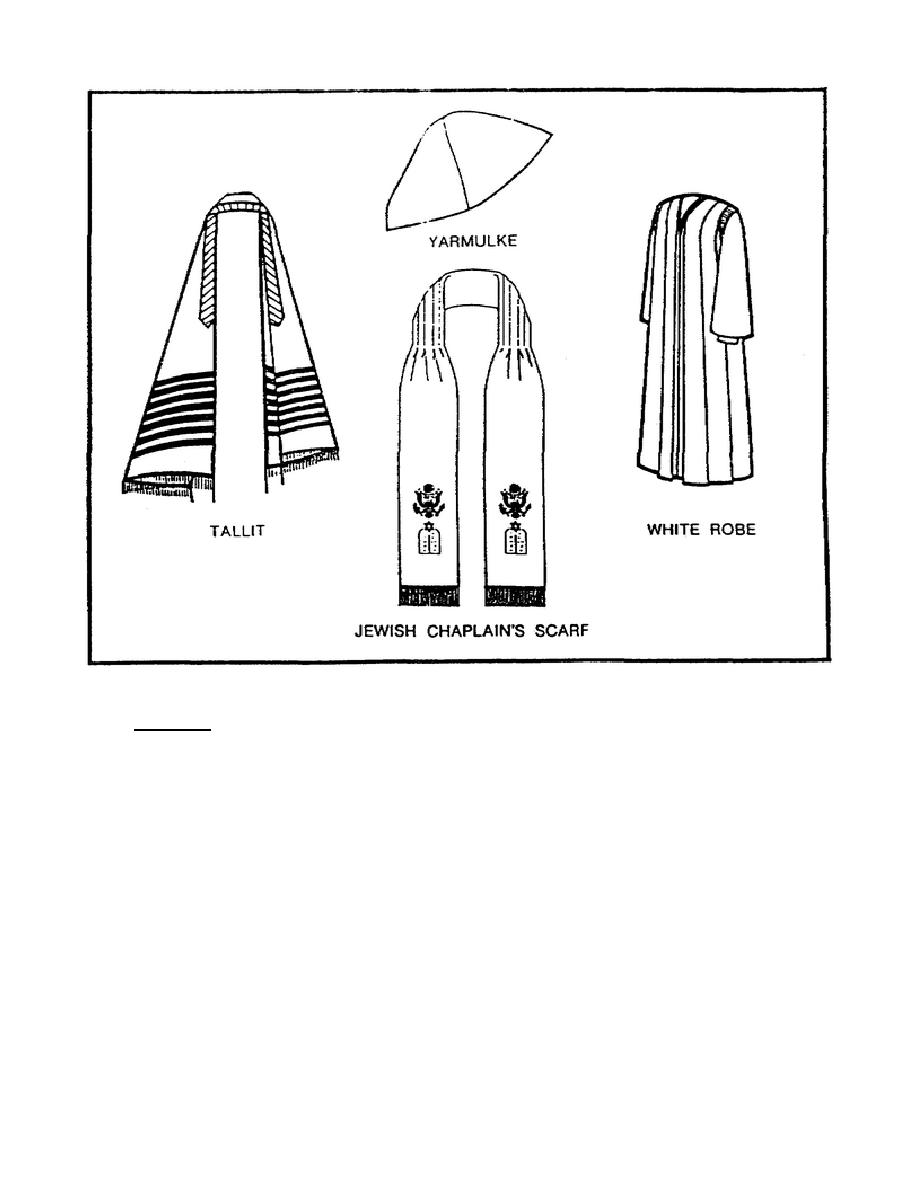Figure 1-11. Vestments Worn by a Jewish Chaplain.
