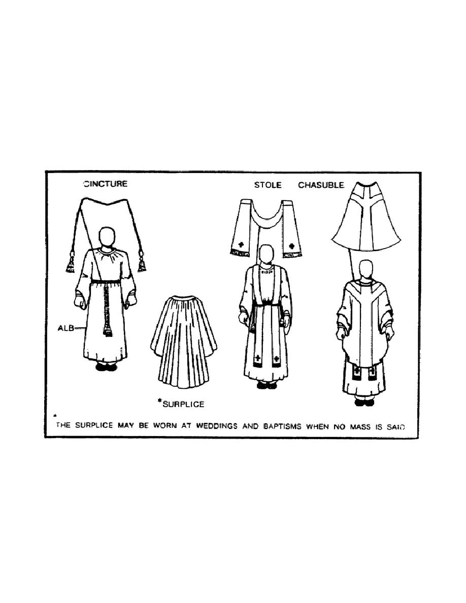 Figure 1-4. Vestment Worn by a Catholic Priest.