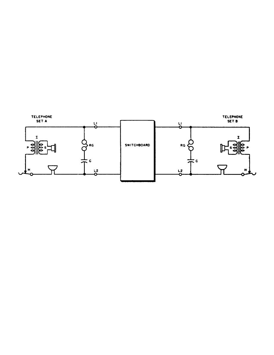 hight resolution of basic circuit of common battery telephone set