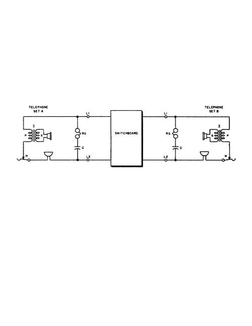 small resolution of basic circuit of common battery telephone set