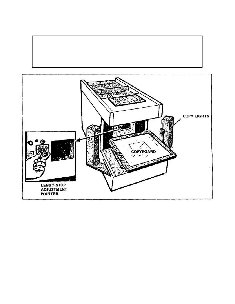 Figure 2-8. Copyboard and lights