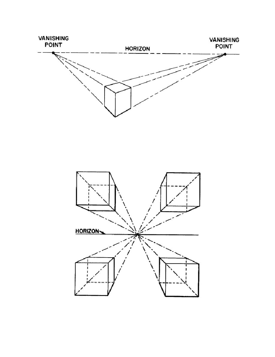 Figure 1-13. Two-point perspective drawing.