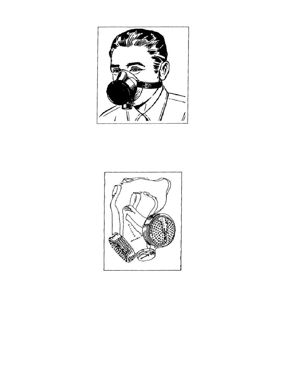 Figure 1-2. Chemical-cartridge respirator