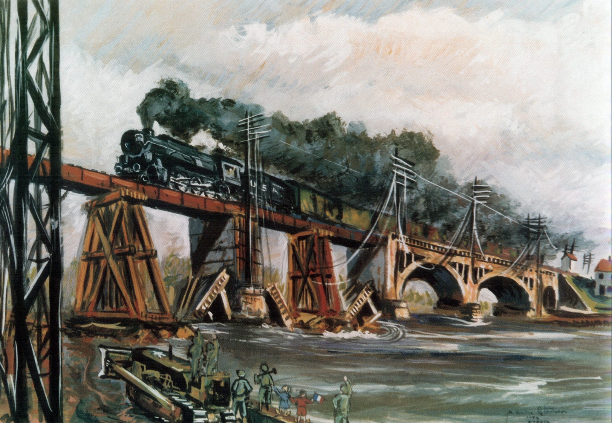 Railroaders In Olive Drab The Military Railway Service In