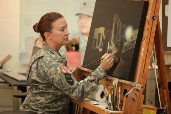 Artwork Of Sergeant Class Amy L. Brown