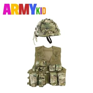 Kids Assault Vest & Helmet Set – BTP Camo