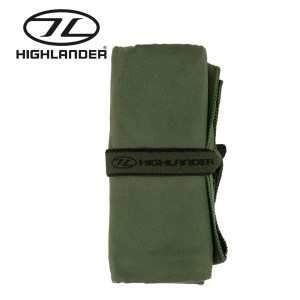 Highlander Soft Fibre Travel Towel –  Olive Green