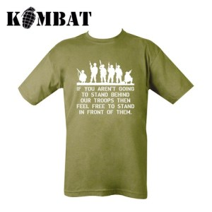 Behind Troops T-shirt – Olive Green