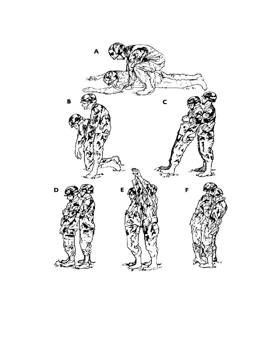 Figure 2-3. Raising a casualty to his feet (regular method