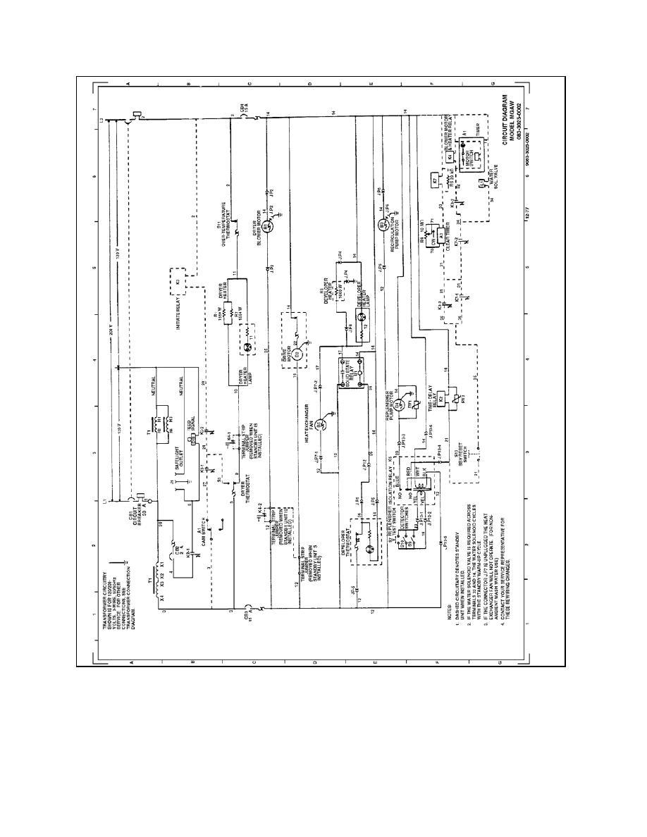 Figure 4-11. Circuit diagram for the X-OMAT film processor