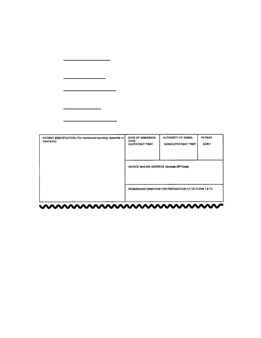Figure 4-9. DA Form 3153 (Patient identification section