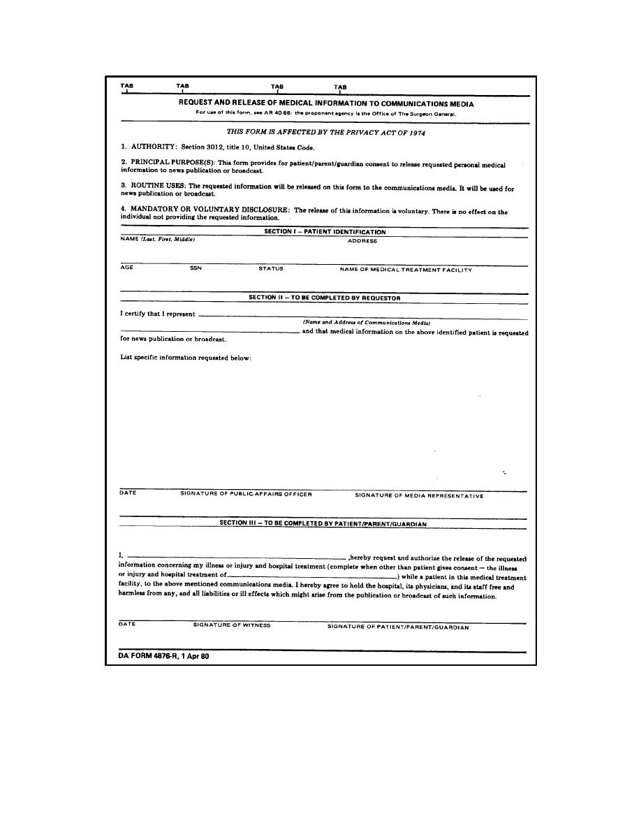 Figure 2 3 Da Form 4876 R Request And Release Of Medical .