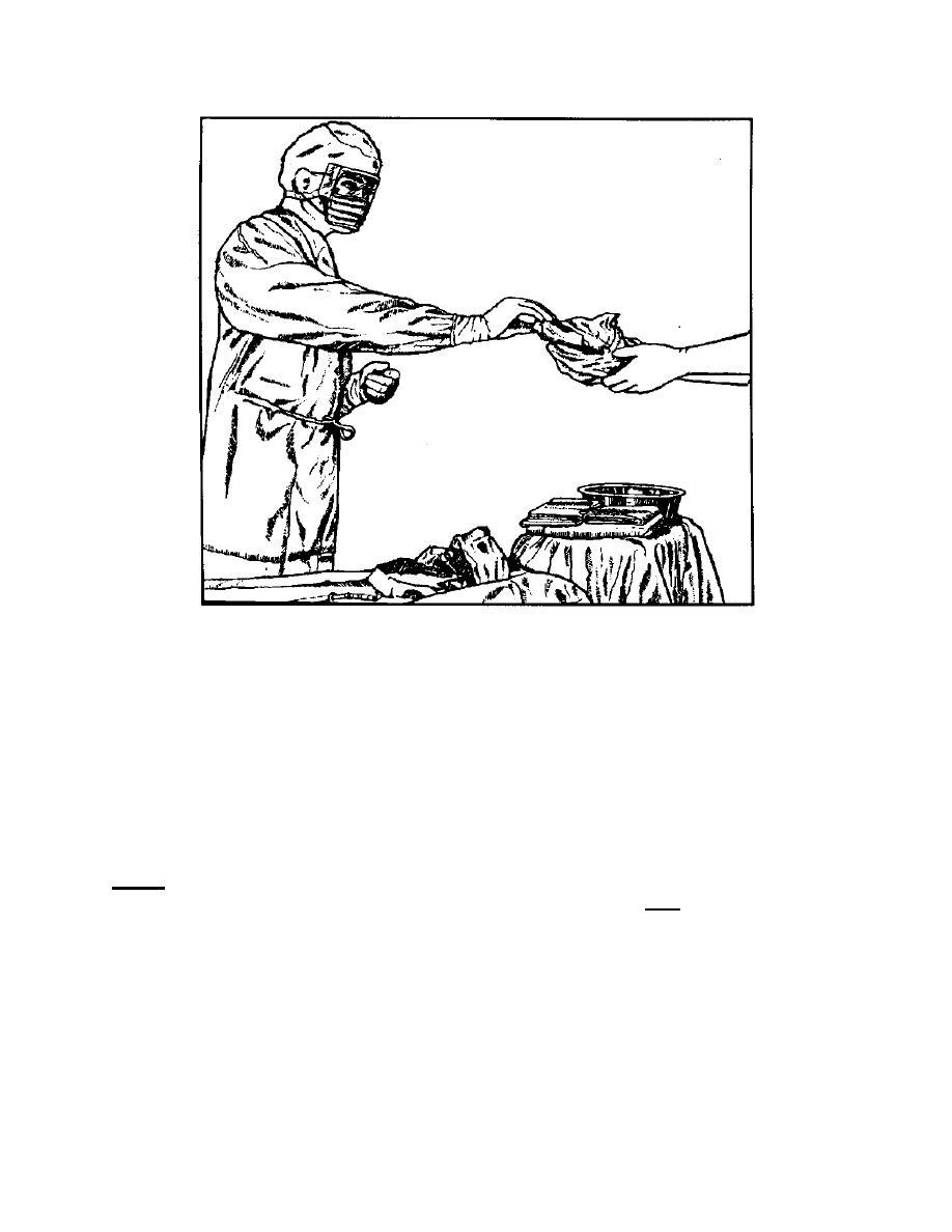 Figure 3-23. Circulator passing supplies to the scrub