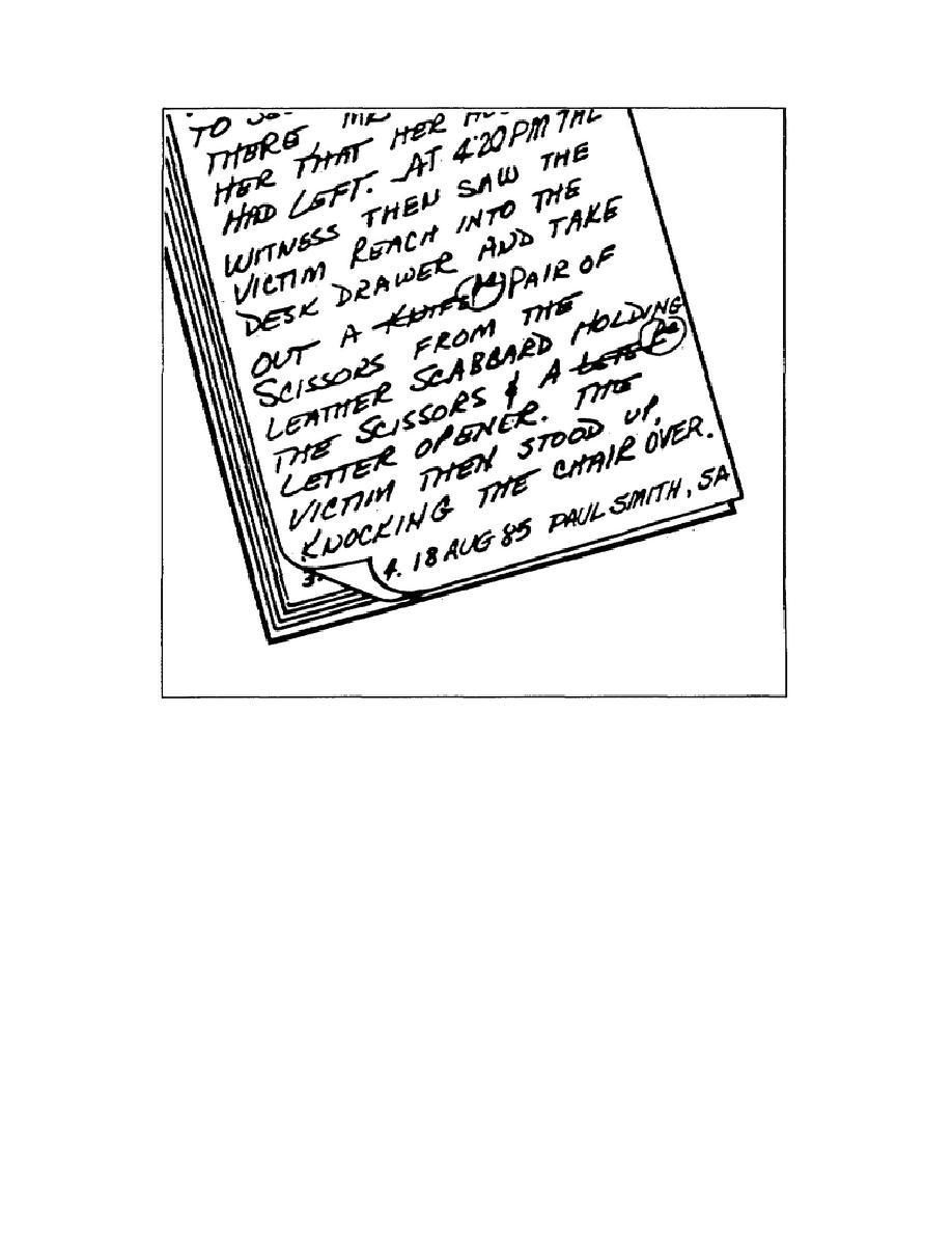 Figure 1-2. Handwritten Entry.