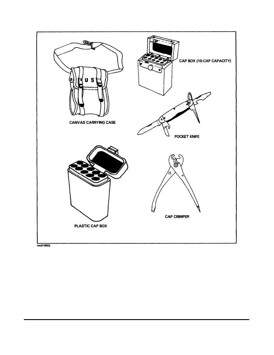 Figure 28. Nonelectric explosive initiating demolition