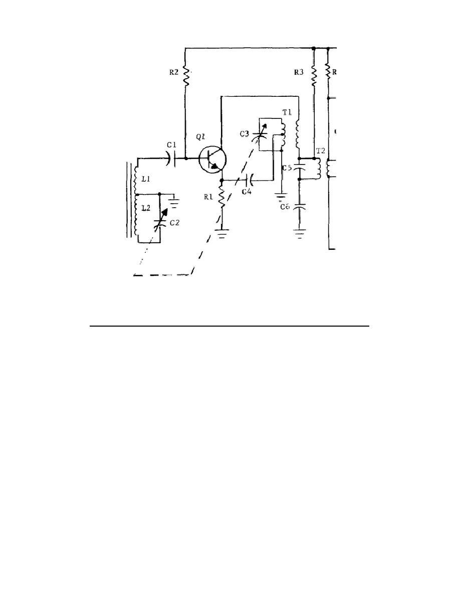 Figure 5-1. Transistorized radio receiver, schematic
