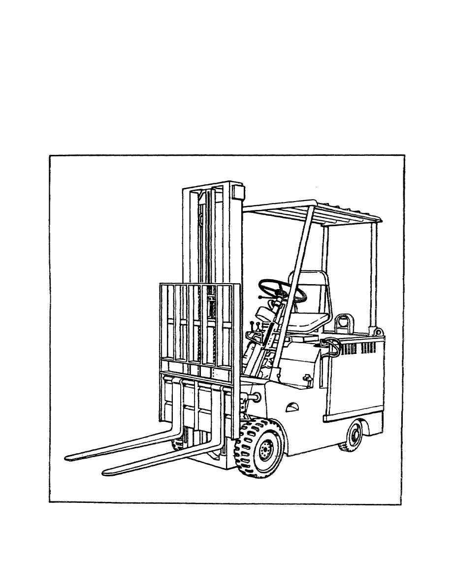 Figure 1-10. 4,000-pound Electric Forklift