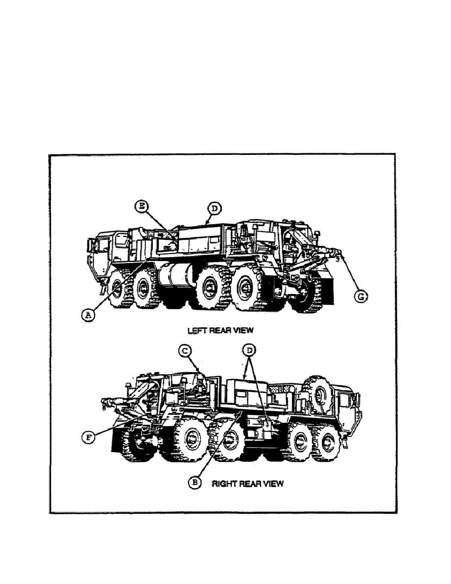 Figure 14. M984E1 Wrecker Recovery Vehicle Component Location.
