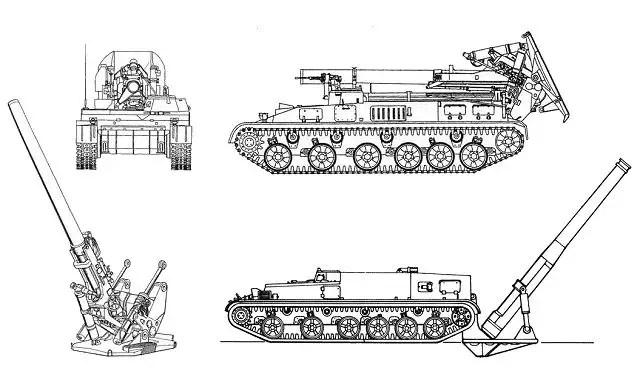 2S4 Tyulpan 240mm self-propelled mortar carrier data sheet