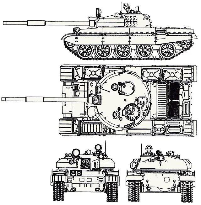 T-62M main battle tank technical data sheet specifications