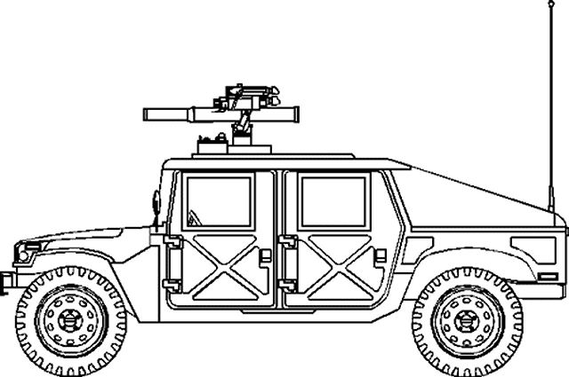 Humvee Drawing