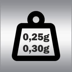 0,25g - 0,30g 6mm