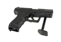 Airsoft Pištoľ Walther PPK/S čierna Metal Slide ASG