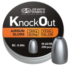 Diabolo JSB KnockOut Slugs .217 200ks kal.5,5mm