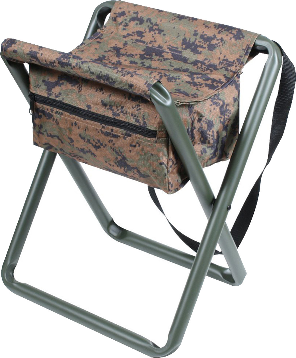 Camo Folding Chair Woodland Digital Camouflage Portable Folding Deluxe Stool