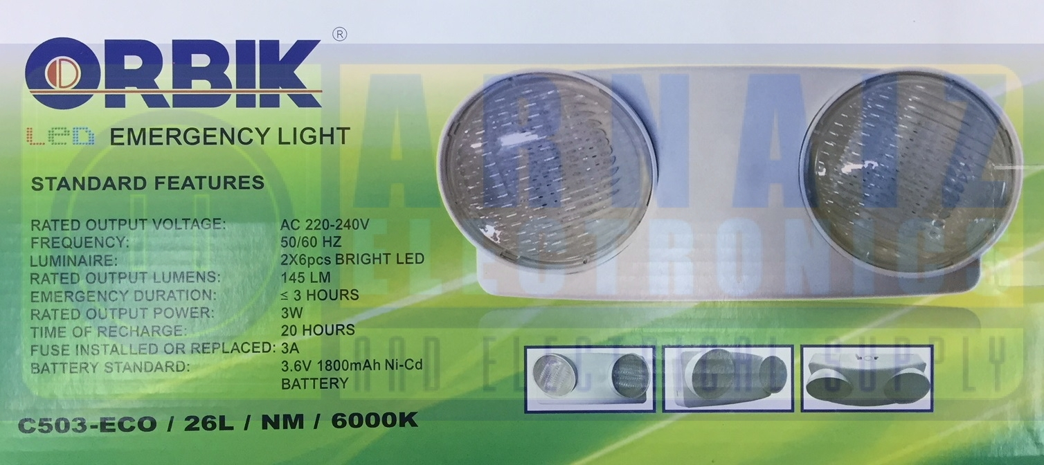 Orbik C503 LED Emergency Light C 503 C-503 Lamp - Arnaiz