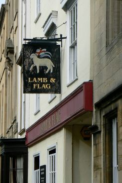 Our local. The Lamb and Flag, where Thomas Hardy wrote much of Jude the Obscure. Tolkien & Lewis frequented this pub when the Eagle & Child ran out of beer (rations), Oxford, UK
