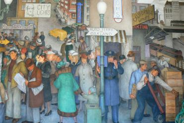 The wonderful Diego Rivera inspired murals in Coit Tower, San Francisco, US