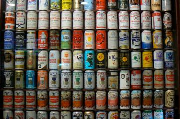 Beer cans at the new Alehouse, Livermore, California