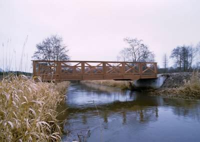 Bro i jerntræ over Skjern Å
