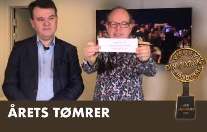 Finalist til prisen for Årets Håndværker - Tømrer- & Snedkerfirma Arne Danielsen A/S