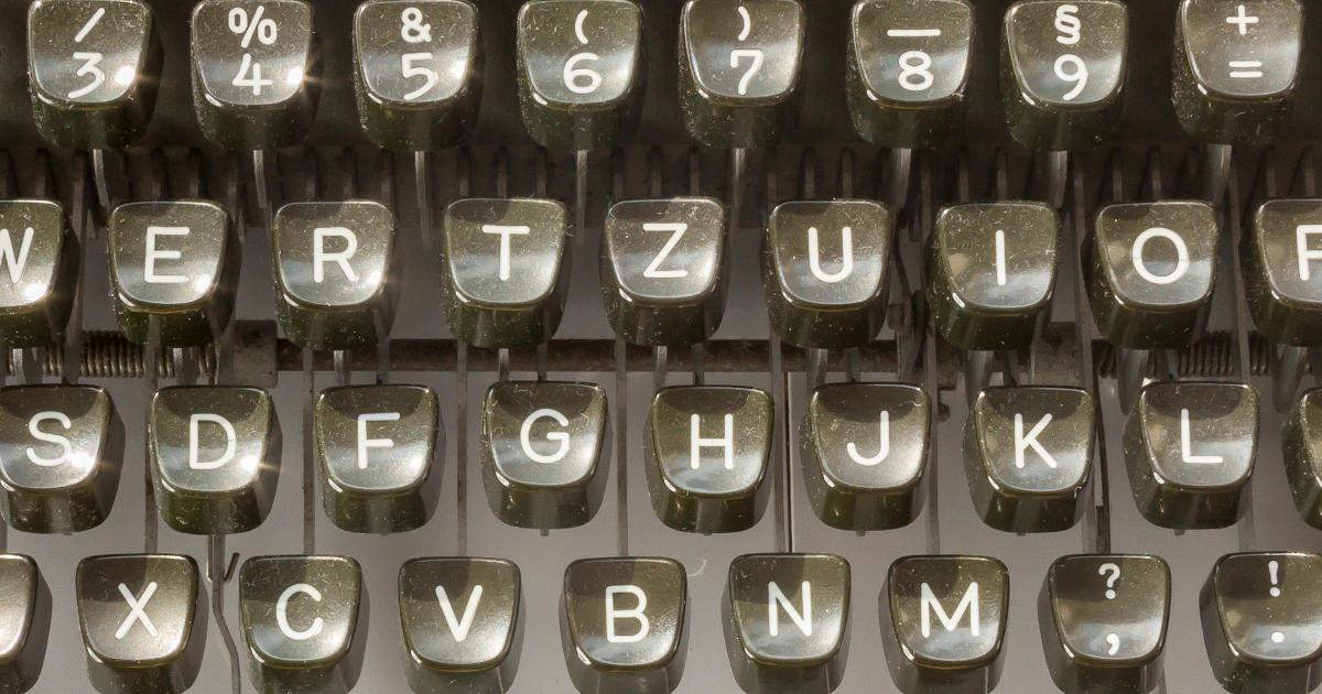 Olympia typewriter - German keyboard layout