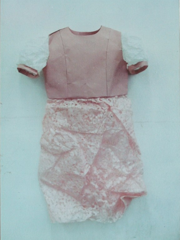 Child's dress made from paper.