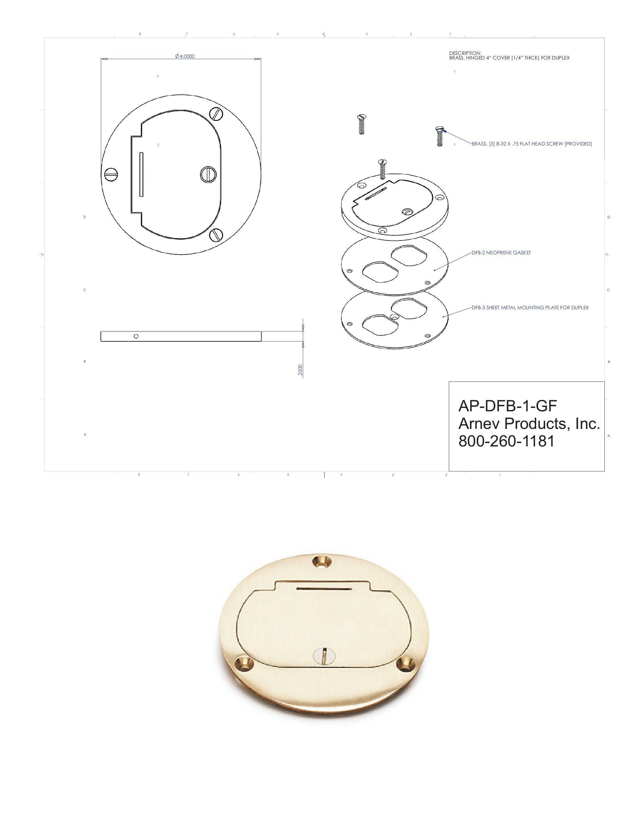 Floor Box Cover Plate : floor, cover, plate, AP-DFB-1-GFI, Concrete, Floor, Electrical, Boxes, Outlet, Junction