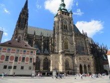 Side view of the St. Vitus Cathedral