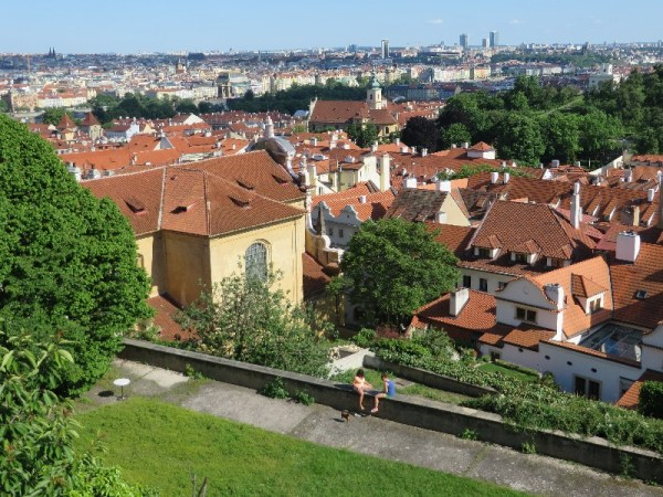 View of Prague east from the Prague Castle