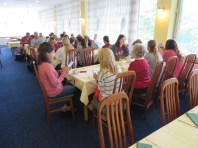 Group lunch at the hotel after we arrived from Vienna