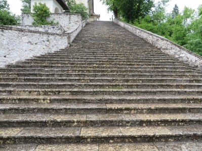 Legend has it that the King had to prove his marriage worthiness by carrying his bride up the 99 steps