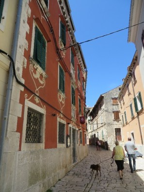 The narrow streets of old Rovinj