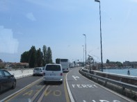 On the causeway from Mestre to the island of Venice